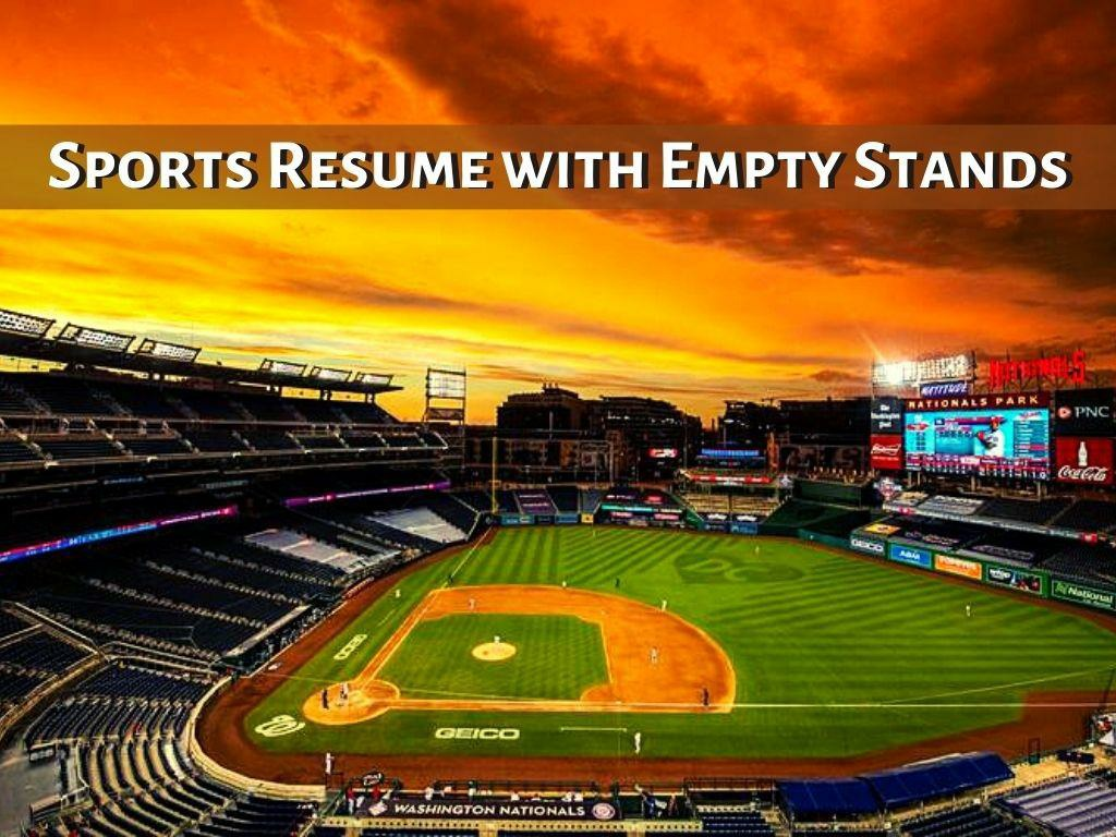 Sports resume with empty stands