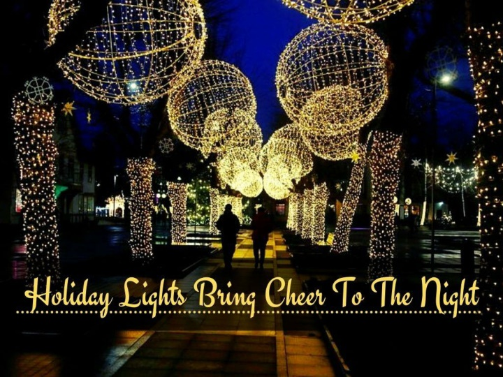 Holiday lights bring cheer to the night