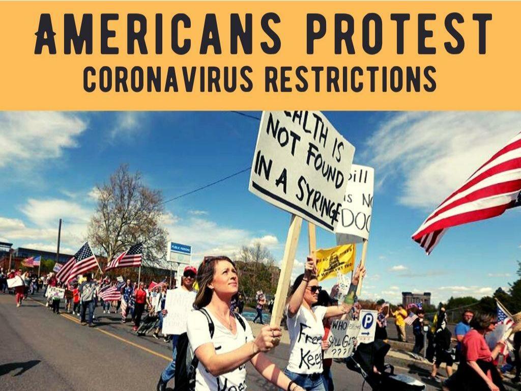 Americans protest coronavirus restrictions