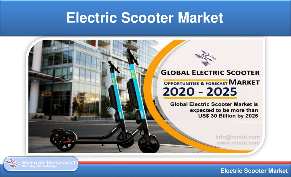 Electric Scooter Market will be US$ 30 Billion by 2025