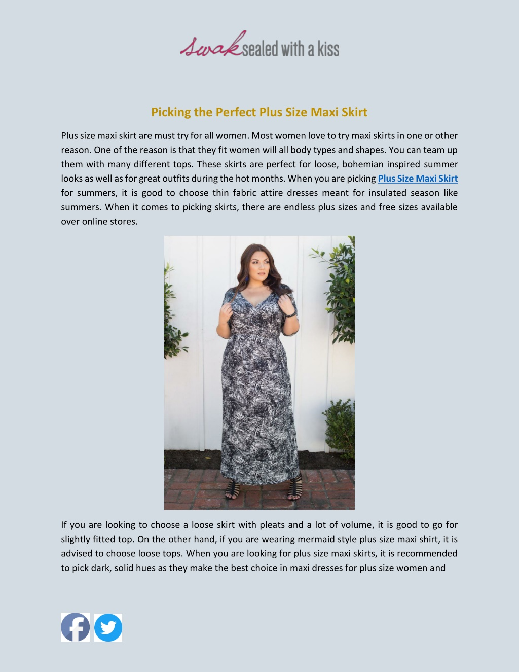 Picking the Perfect Plus Size Maxi Skirt