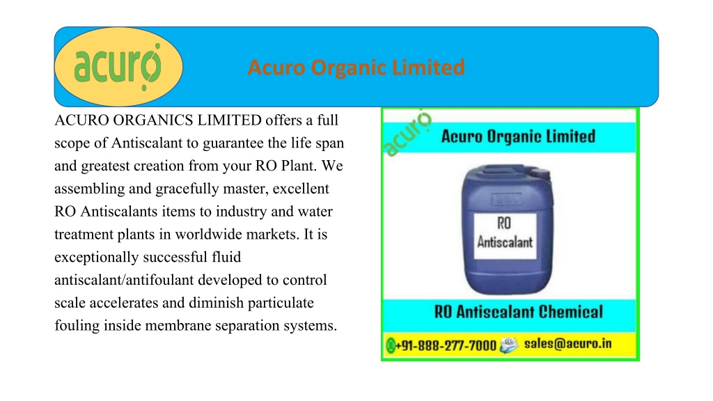 Membrane Chemical Treatment Ro Antiscalant