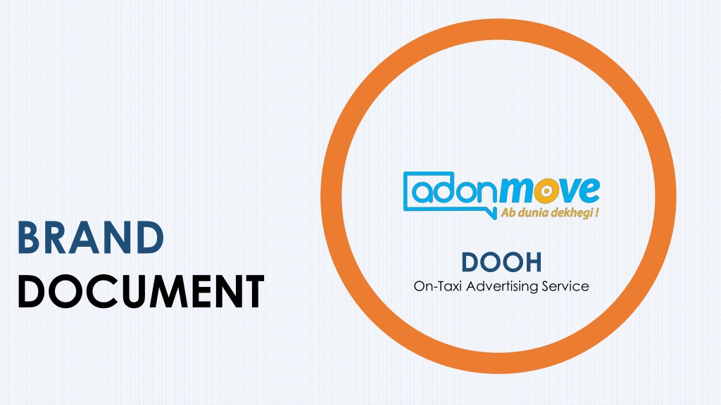 AdonMove - DOOH On-Taxi Advertising Service
