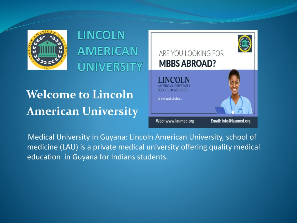 MD/MBBS in Guyana - MBBS in USA & MBBS in America Focused Curriculum