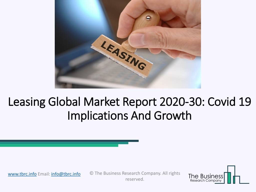 Leasing Market Status, Players, Types, Applications, And Forecast 2020-2030